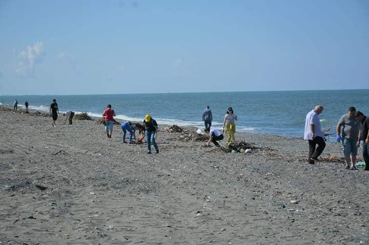 Cleaning activity at Kolkheti Park territory and Anaklia seashore