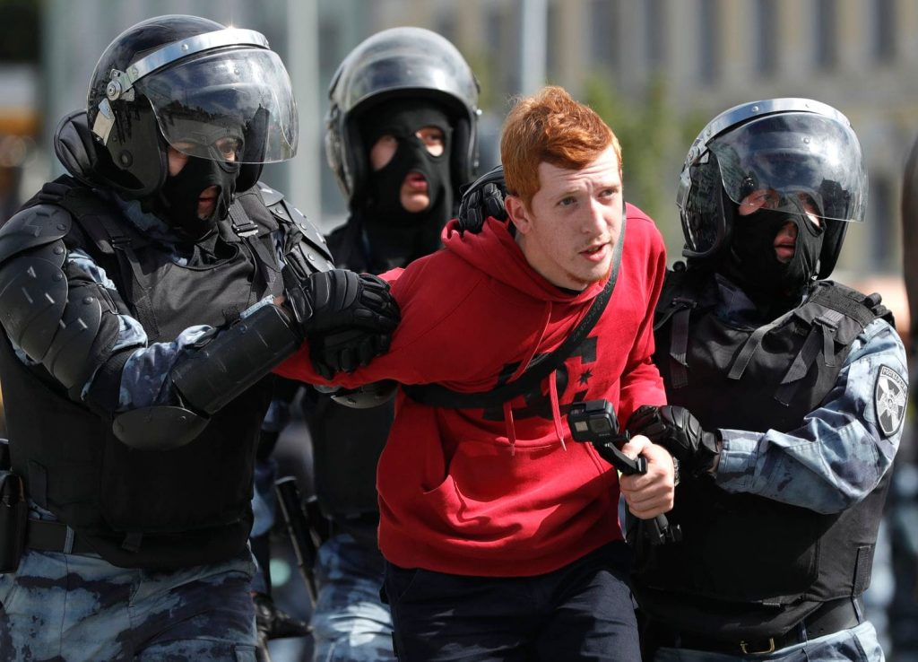 EU calls on the Russian authorities to release demonstrators detained during protest rally