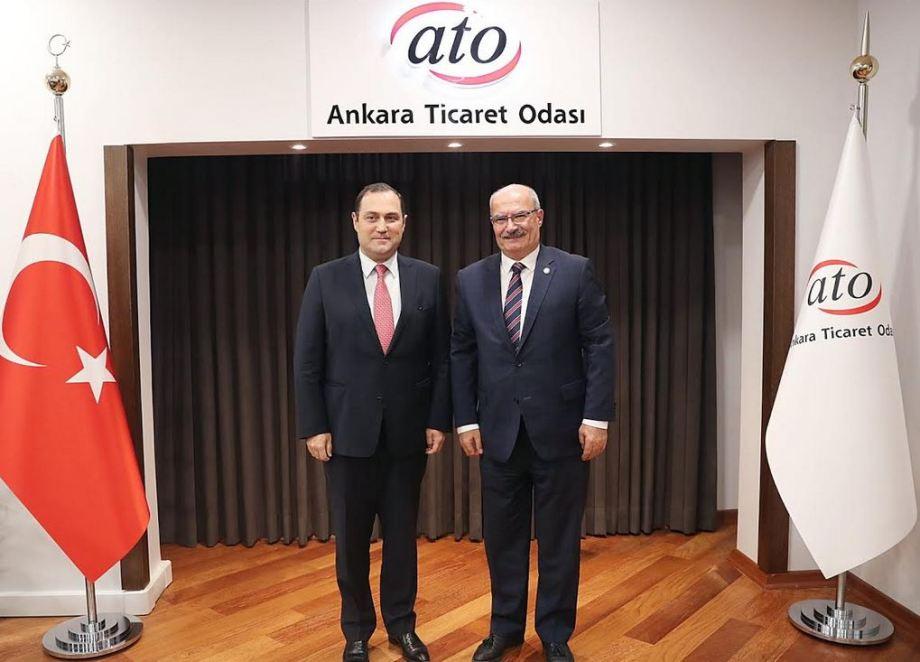 თურქეთში საქართველოს ელჩი ანკარის სავაჭრო პალატის პრეზიდენტს შეხვდა