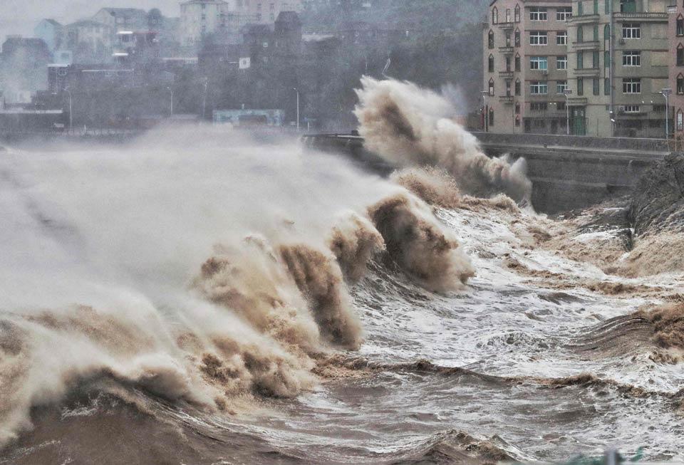 """ჩინეთში სუპერ ტაიფუნ """"ლეკიმას"""" 13 ადამიანი ემსხვერპლა 16 კი, დაკარგულია"""