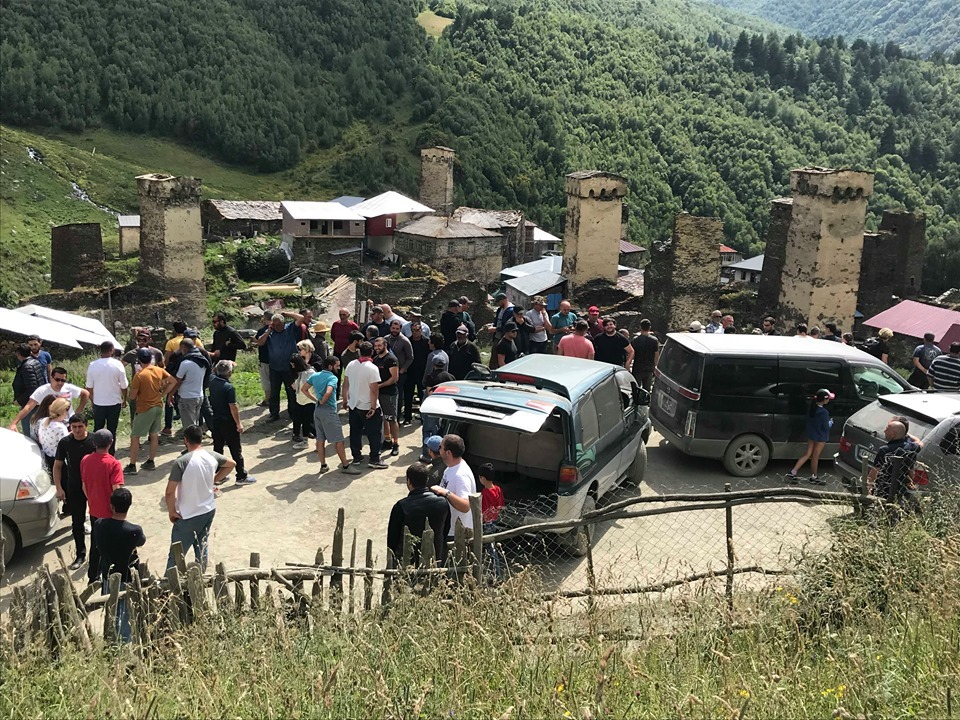 Rally held in Ushguli, protesters demand rehabilitation ofhistoric towers