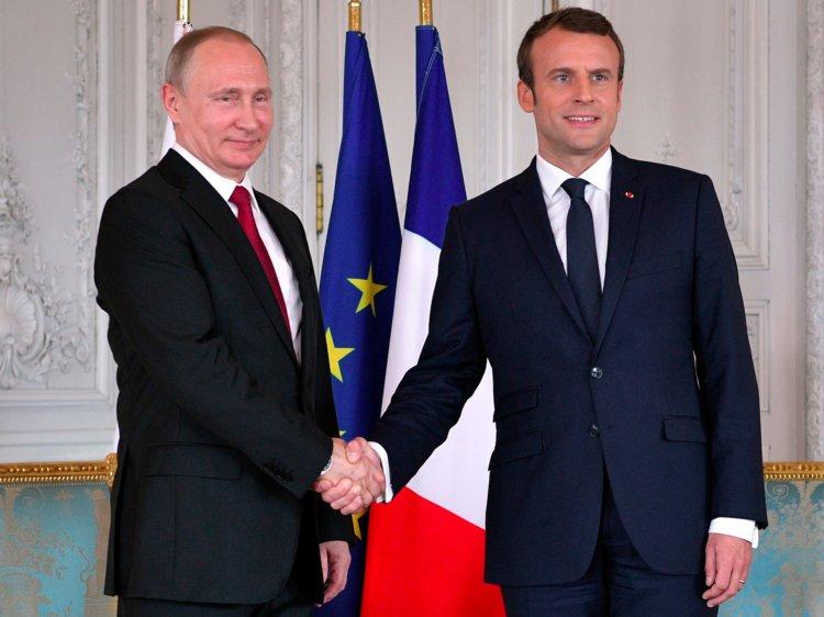 Владимир Путин встретится с Эмманюэлем Макроном во Франции 19 августа