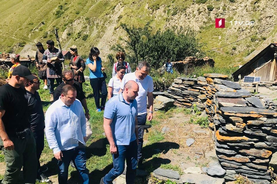 Мамука Бахтадзе - Вскоре завершится строительство гидроэлектростанции, которая будет снабжать электроэнергией села Архоти