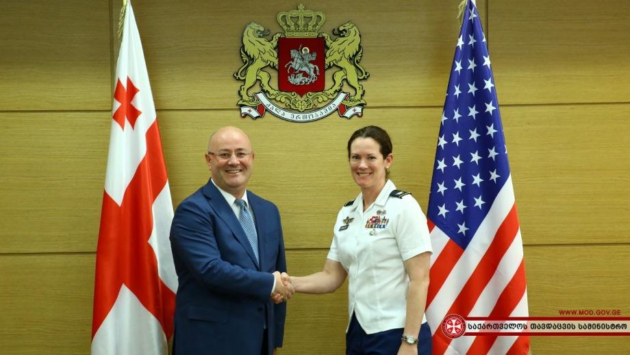 Леван Изория провел встречу с новым военным атташе США