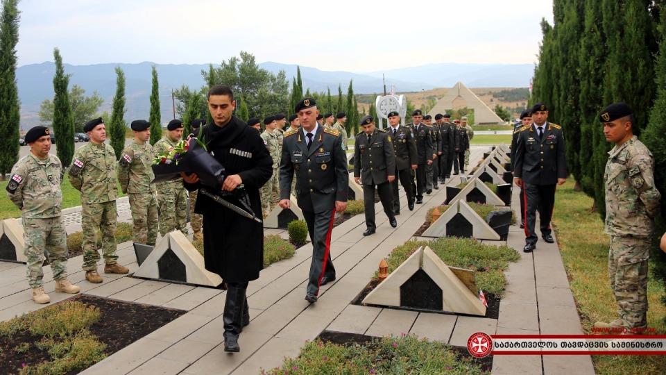 სამხედრო მოსამსახურეებმა საქართველოს ეროვნული გმირის, გიორგი ანწუხელიძისხსოვნას პატივი მიაგეს