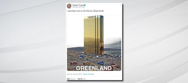 Дональд Трамп пообещал не строить небоскреб в Гренландии