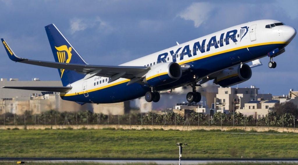 """ავიაკომპანია """"რაინეარი"""" პირველი ივლისიდან ფრენების 40 პროცენტის აღდგენას გეგმავს"""