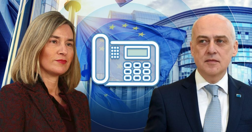 Federica Mogherini and Davit Zalkaliani hold phone conversation over situation in occupied regions
