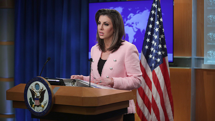 Morgan Ortagus - The United States calls on Russia to suspend its illegal occupation of 20 percent of Georgian territory