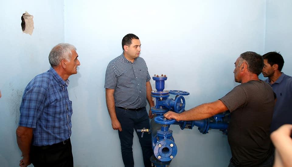 სოფელ სადახლოში სასმელი წყლის სისტემების მოწყობის პროექტი დასრულდა