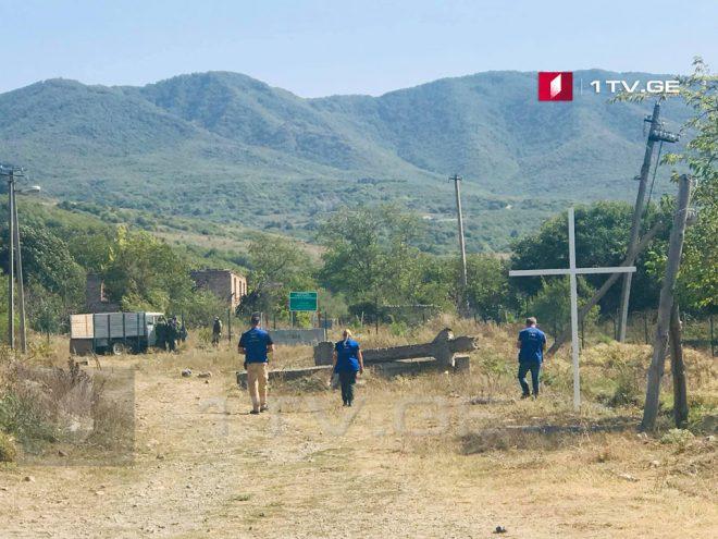 Российские оккупанты, предположительно, приостановили возведение незаконных барьеров в Гугутианткари