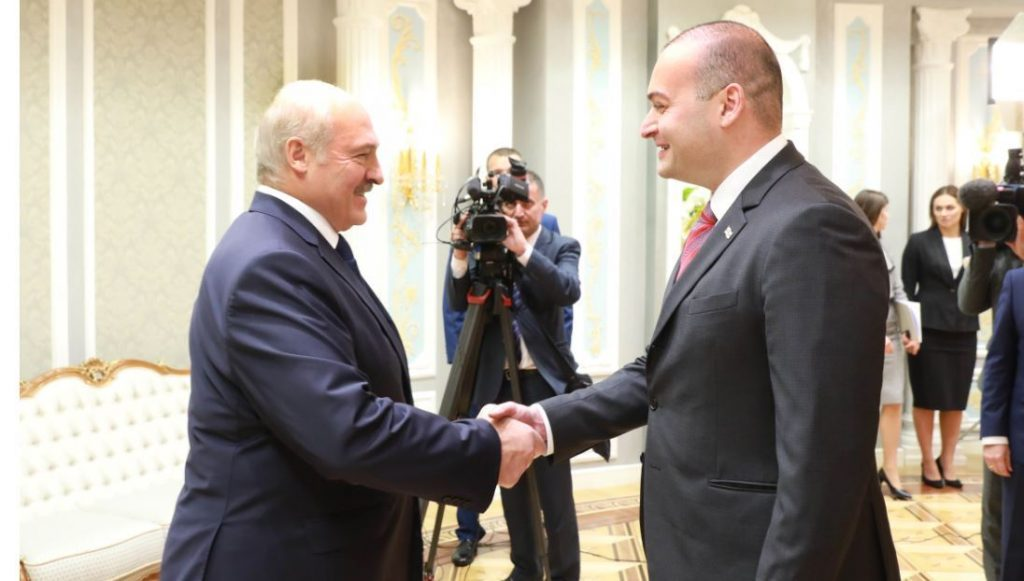 Georgian PM meets with President of Belarus