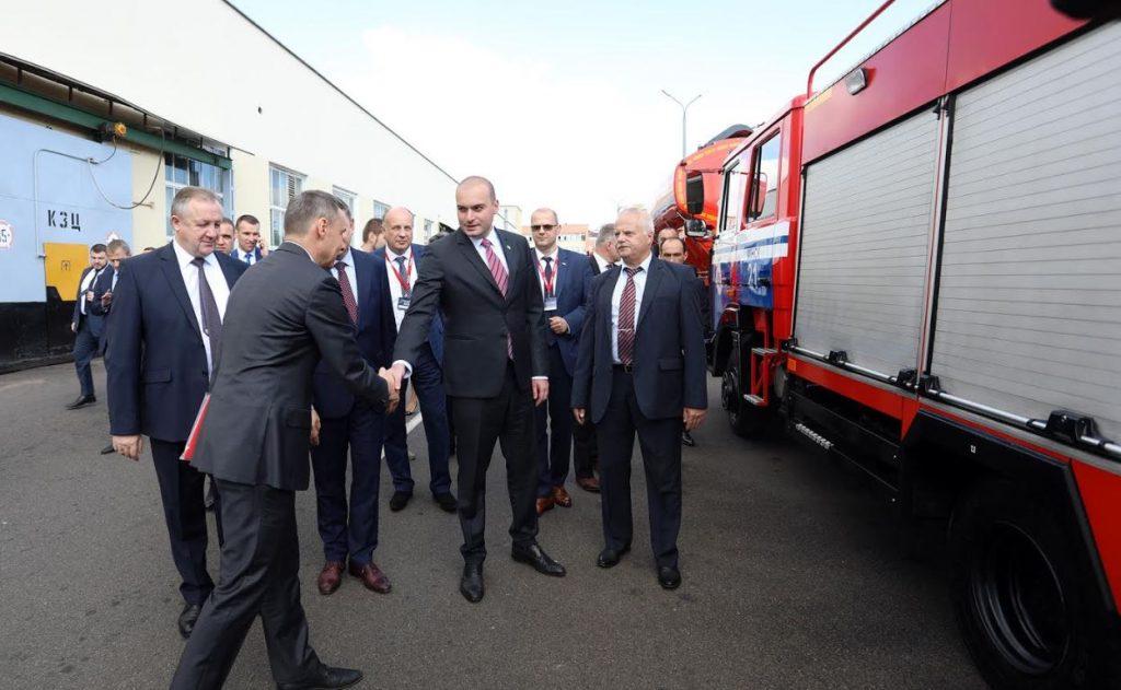 Мамука Бахтадзе посетил Минский автомобильный завод [фото]