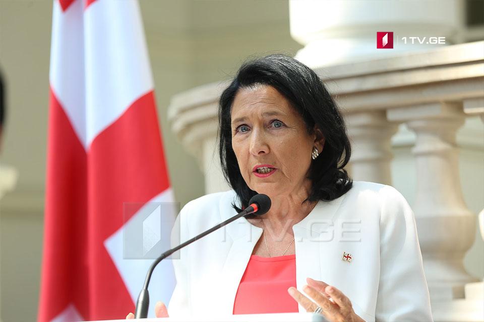 """Salome Zurabişvili - de fakto hökumət Abxaziyada bu gün qeyri legitim """"prezident seçkilərini"""" keçirir"""
