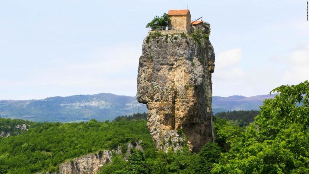 CNN - Katskhi pillar is the extraordinary church where daring monks climb closer to God