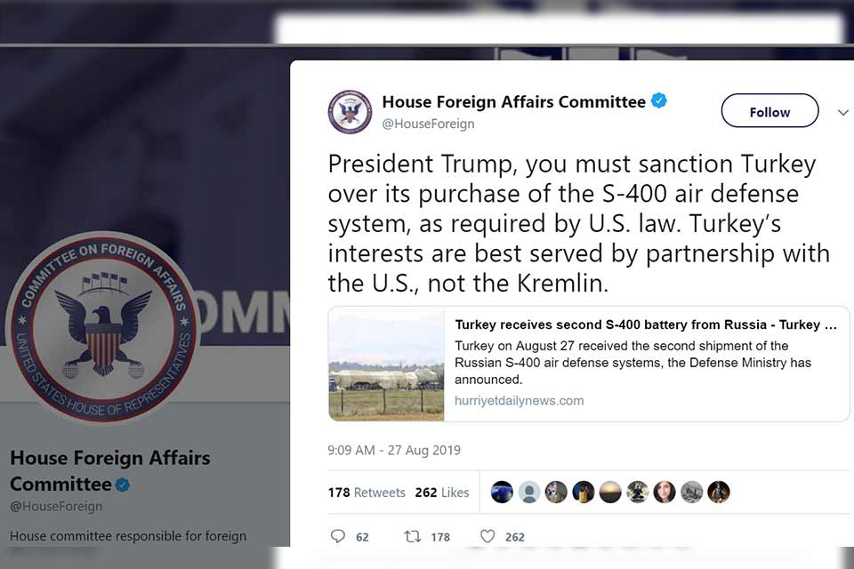 В Палате представителей США призвали Дональда Трампа ввести санкции против Турции