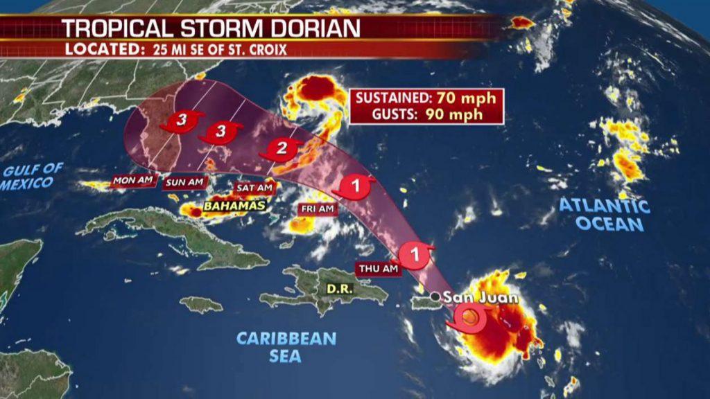 """ციკლონ """"დორიანს""""ქარიშხლის კატეგორია მიენიჭა"""