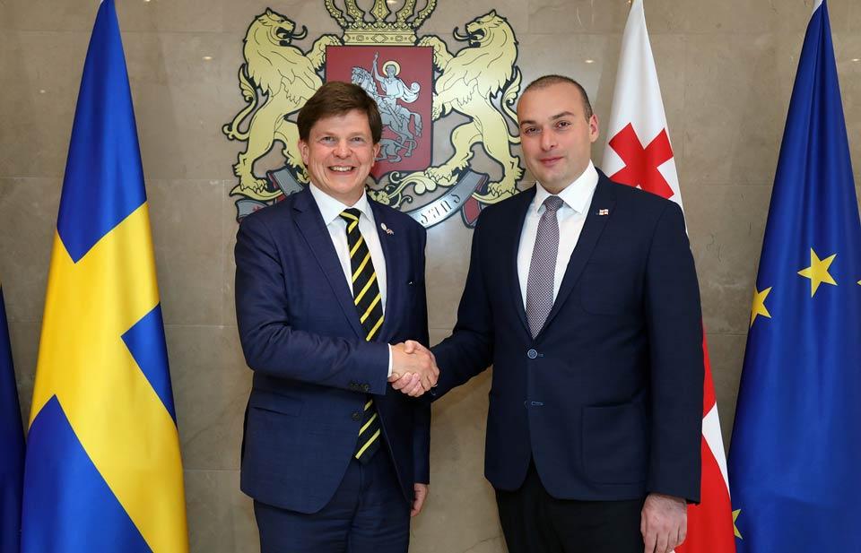 Мамука Бахтадзе встретился с председателем парламента Швеции