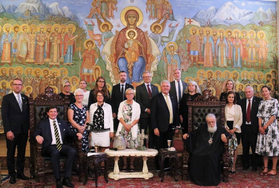 კათოლიკოს-პატრიარქი შვედეთის სამეფოს პარლამენტის თავმჯდომარეს შეხვდა