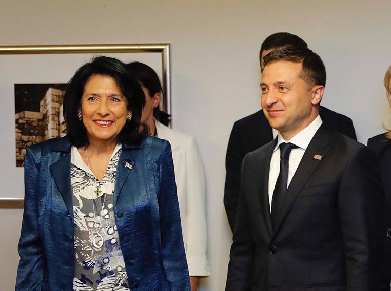 Владимир Зеленский пригласил Саломе Зурабишвили в Украину