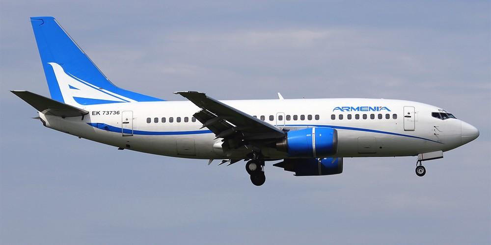"""ავიაკომპანია """"არმენიას"""" თვითმფრინავი ტექნიკური პრობლემის გამო თბილისში დაჯდა"""