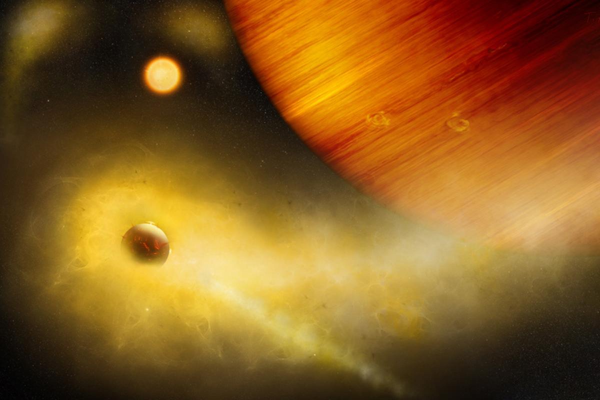 შორეულ პლანეტასთან ასტრონომებმა ვულკანურად აქტიური ეგზომთვარის ნიშნები დააფიქსირეს