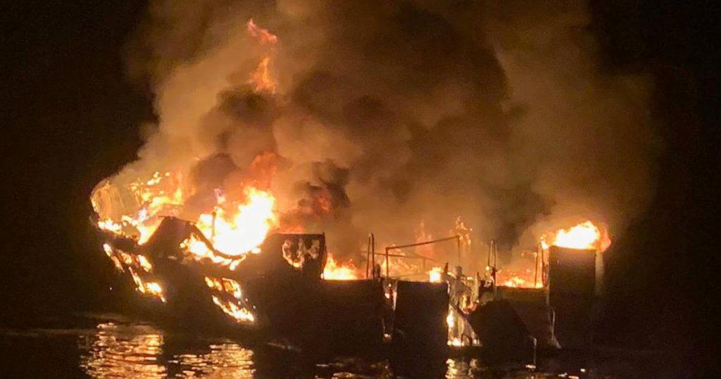 კალიფორნიის სანაპიროსთან კერძო იახტას ცეცხლი გაუჩნდა, მაშველებმა ადგილზე ოთხი ადამიანის ცხედარი იპოვეს