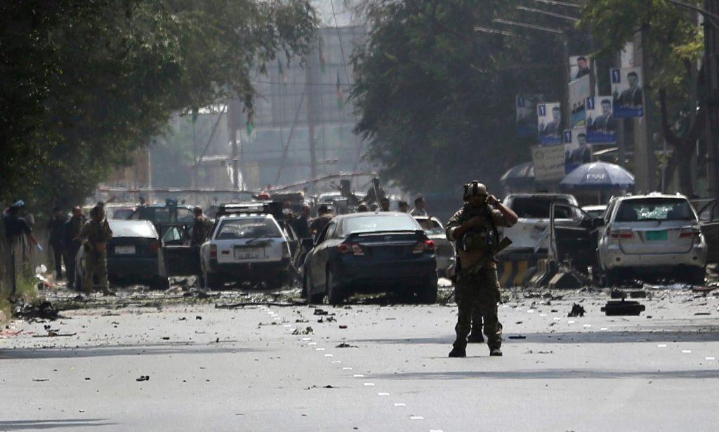 """ქაბულში მომხდარ აფეთქებაზე პასუხიმგებლობა მოძრაობა """"თალიბანმა"""" აიღო"""