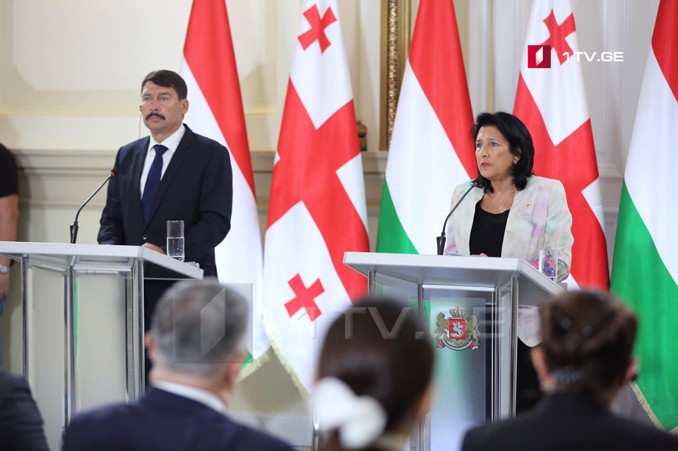 Саломе Зурабишвили - Грузия ценит поддержку Венгрией вопроса территориальной целостности страны