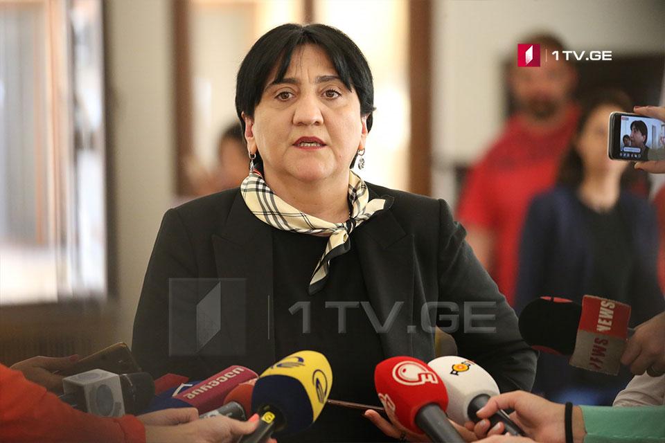 Ирма Инашвили требует от Генеральной прокуратуры Грузии начать расследование инцидента 10 сентября