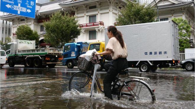 იაპონიას ბოლო წლების განმავლობაში ყველაზე ძლიერმა ტაიფუნმა გადაუარა