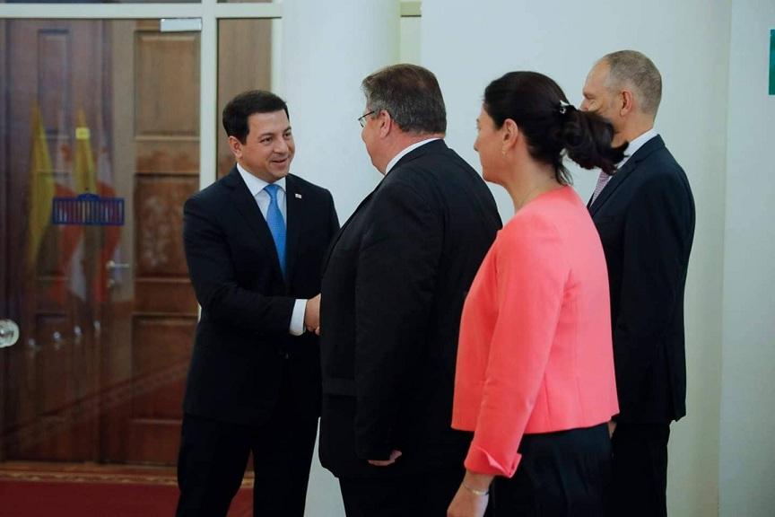 არჩილ თალაკვაძე ლიეტუვის საგარეო საქმეთა მინისტრს შეხვდა