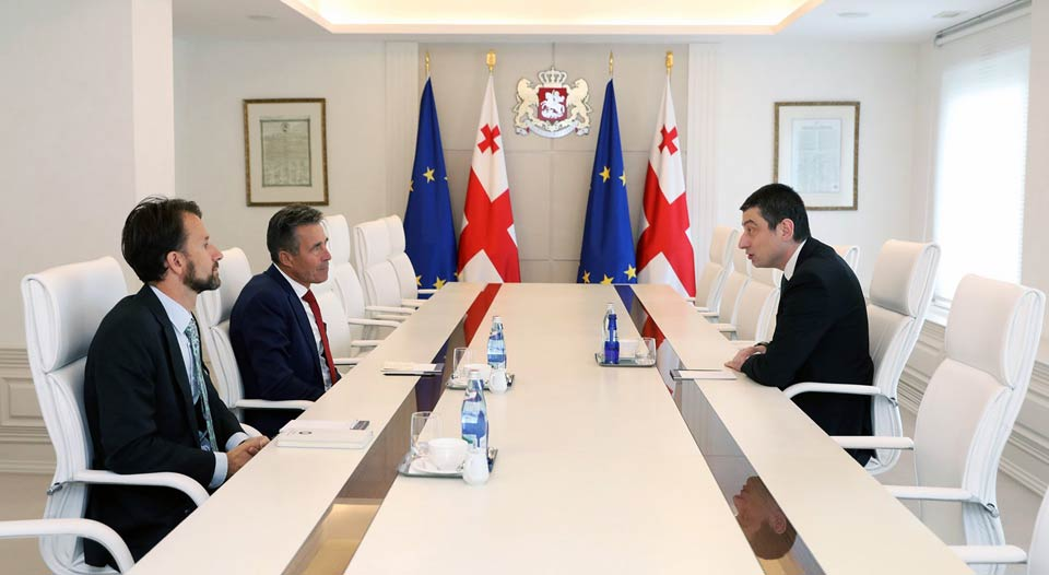 Giorgi Gakharia expresses gratitude to Anders Fogh Rasmussen for supporting Euro-Atlantic aspirations of Georgia
