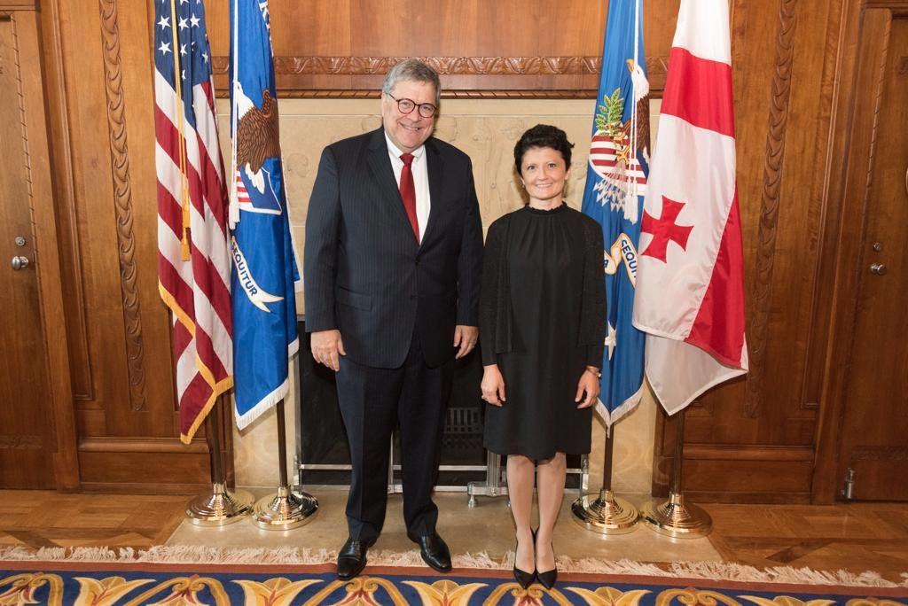 Tea Tsulukiani met US Attorney General William Barr