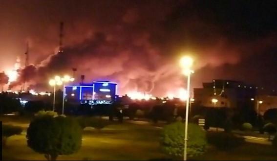 საუდის არაბეთში ორ ნავთობგადამამუშავებელ ქარხანაზე თავდასხმა განხორციელდა