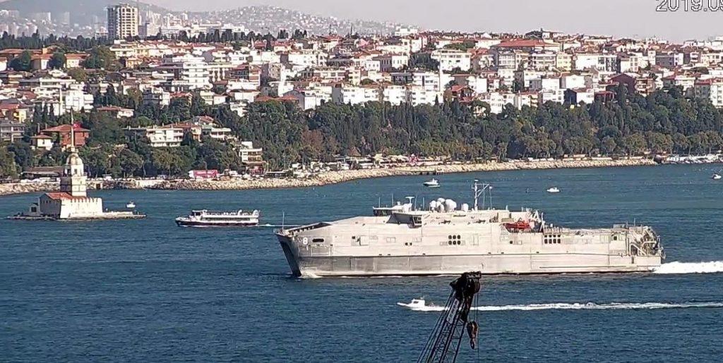 """""""ბოსფორუს ობსერვერი"""" - შავ ზღვაში ამერიკული საექსპედიციო-სატრანსპორტო გემი შევიდა"""