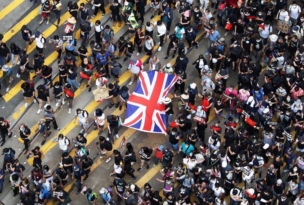 ჰონგ კონგში დემონსტრანტებმა გაერთიანებულ სამეფოს დახმარება სთხოვეს