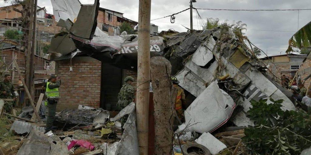 კოლუმბიაში მცირე ზომის თვითმფრინავმა კატასტროფა განიცადა