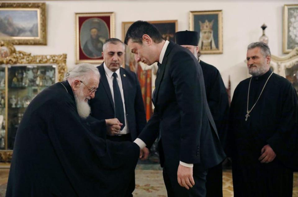 İkinci İliya Patriarxlıqda Giorgi Qaxariyanı qəbul etdi (foto)