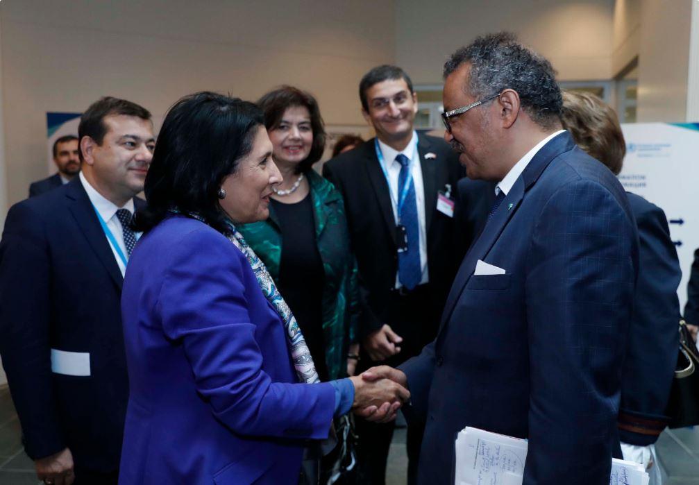 სალომე ზურაბიშვილი ჯანდაცვის მსოფლიო ორგანიზაციის დირექტორს შეხვდა