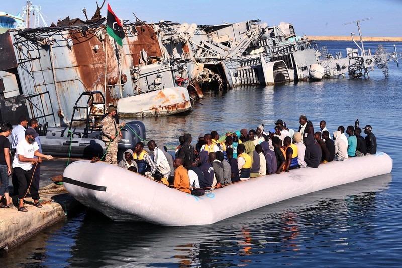 Libyanın sahil polisi cari həftə Aralıq Dənizində 493 nəfəri xilas etdi