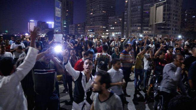 ეგვიპტეში საპროტესტო აქციის დროს პოლიციამ ცრემლსადენი აირი გამოიყენა