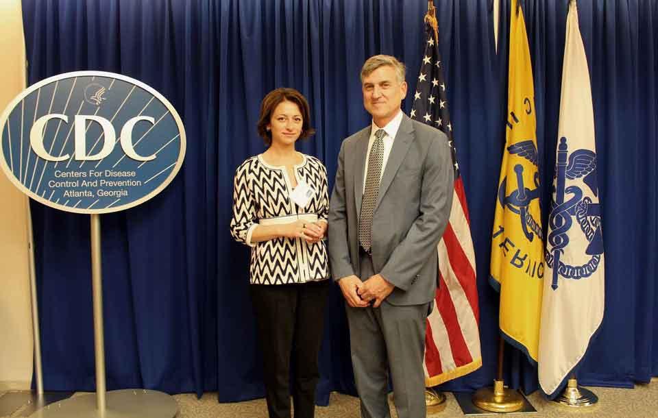 ეკატერინე ტიკარაძე აშშ-ში ამერიკის დაავადებათა კონრტოლისა და პრევენციის ცენტრის ხელმძღვანელებს შეხვდა