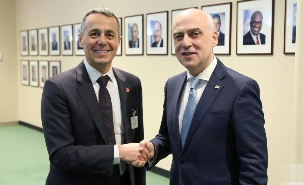 Georgian MFA: Switzerland, as mediator between Georgia and Russia, expresses readiness to make active efforts for de-escalation
