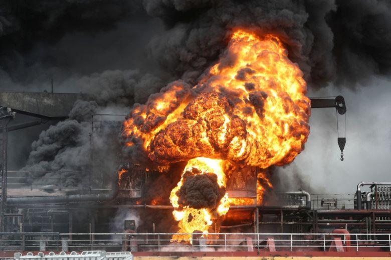 სამხრეთ კორეაში, სატვირთო გემზე აფეთქების შედეგად 10 მეზღვაური დაშავდა