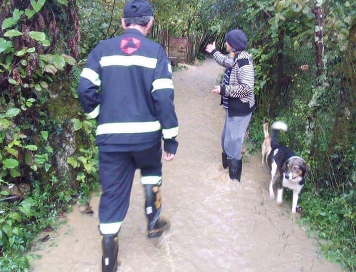 ძლიერი წვიმის გამო, ჩოხატაურის რამდენიმე სოფელი დაზარალდა