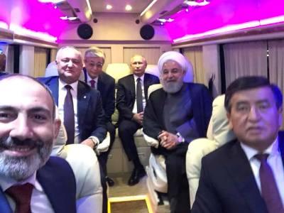 Никол Пашинян опубликовал селфи с мировыми лидерами