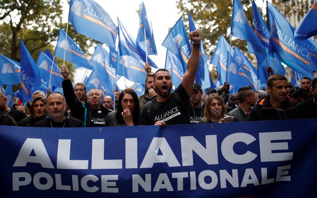 """საფრანგეთში პოლიციელებმა """"განრისხებულთა მარში"""" გამართეს"""