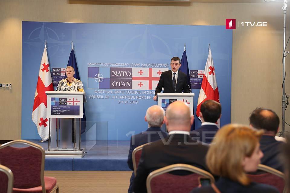 Giorgi Qaxariya - NATO qüvvələri ilə uyğunlaşdırılmaqda ən yüksək səviyyəyə çatan Gürcüstanla əməkdaşlıq gözləyirik ki, yekunda real nəticələrə keçəcəkdir