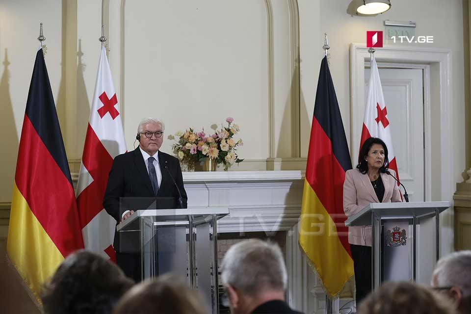 სალომე ზურაბიშვილი - გერმანიის პრეზიდენტთან პირველად გვექნება ოფიციალური ვახშამი არა თბილისში, არამედ კახეთში, ეს ტრადიციად უნდა იქცეს